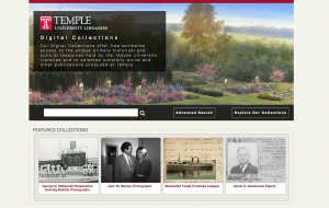 Screen shot of new site