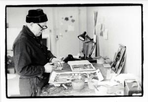 Romare Bearden, early 1980s, photo by Frank Stewart