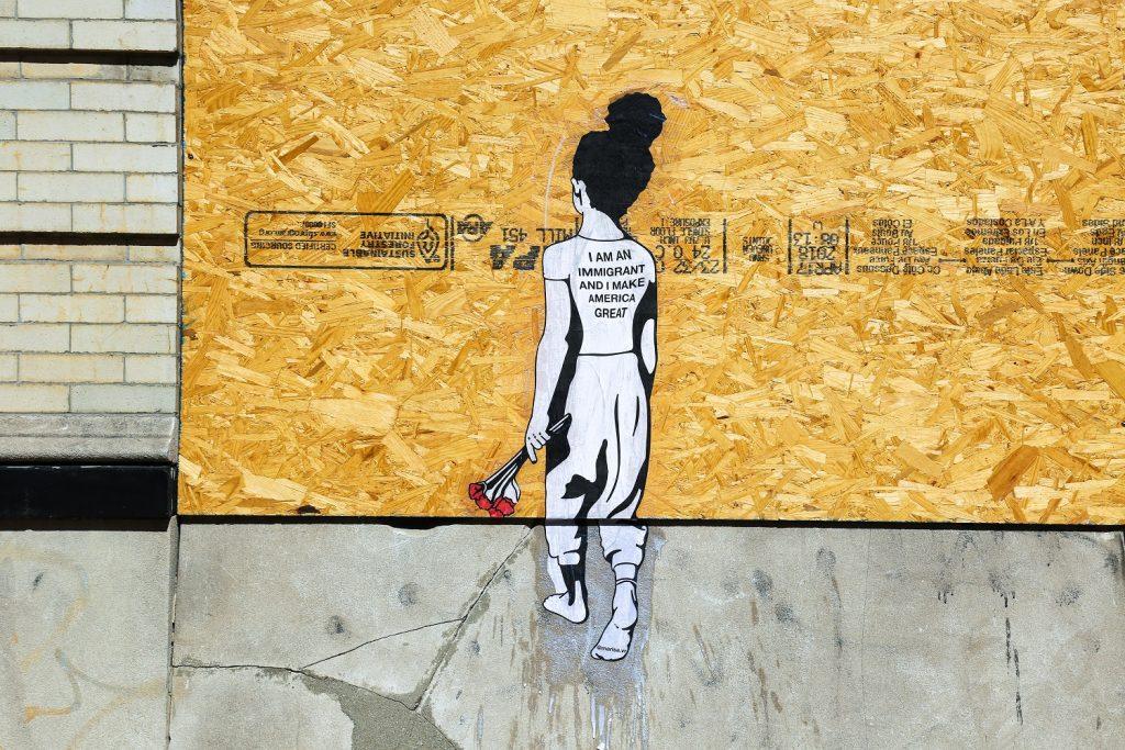 Wheatepaste public art by Marisa Velázquez-Rivas