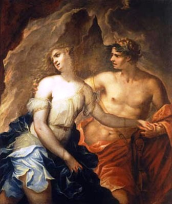 Painting of Orpheus and Euridice