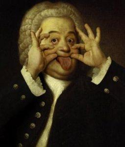 Johann Sebastian Bach being silly.