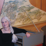 Joyce Lindorff at the harpsichord