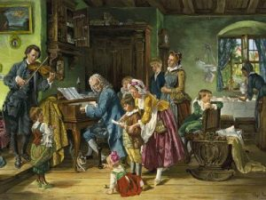 1870 painting of Bach and his family