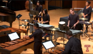photo of percussion performance
