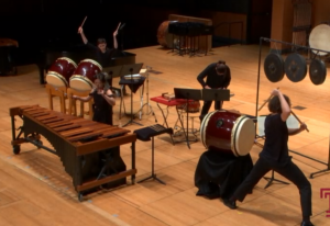 photo of xylophone and drum performance
