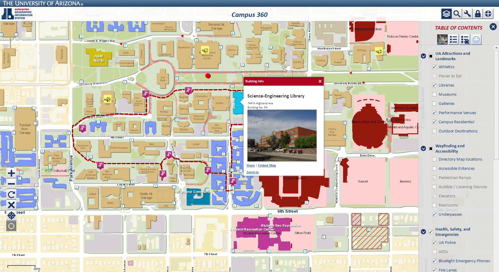 Excellent Examples of University Campus Maps | Temple PSM in GIS