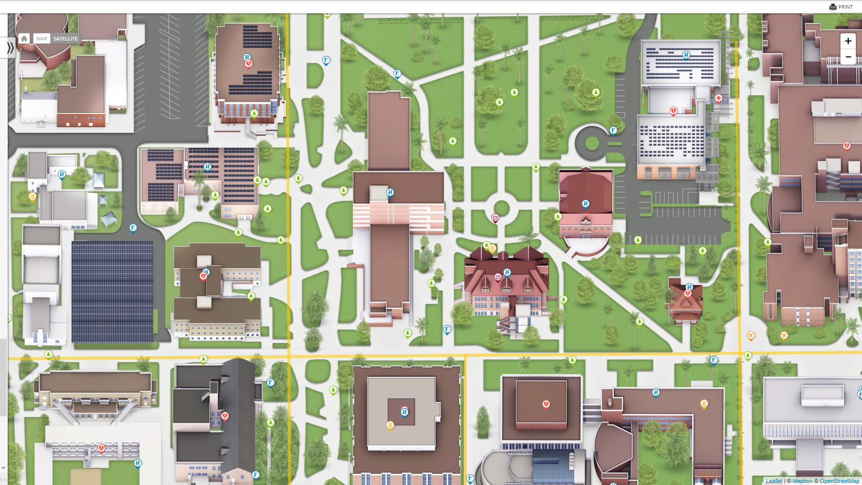 Excellent Examples Of University Campus Maps Temple Psm In Gis