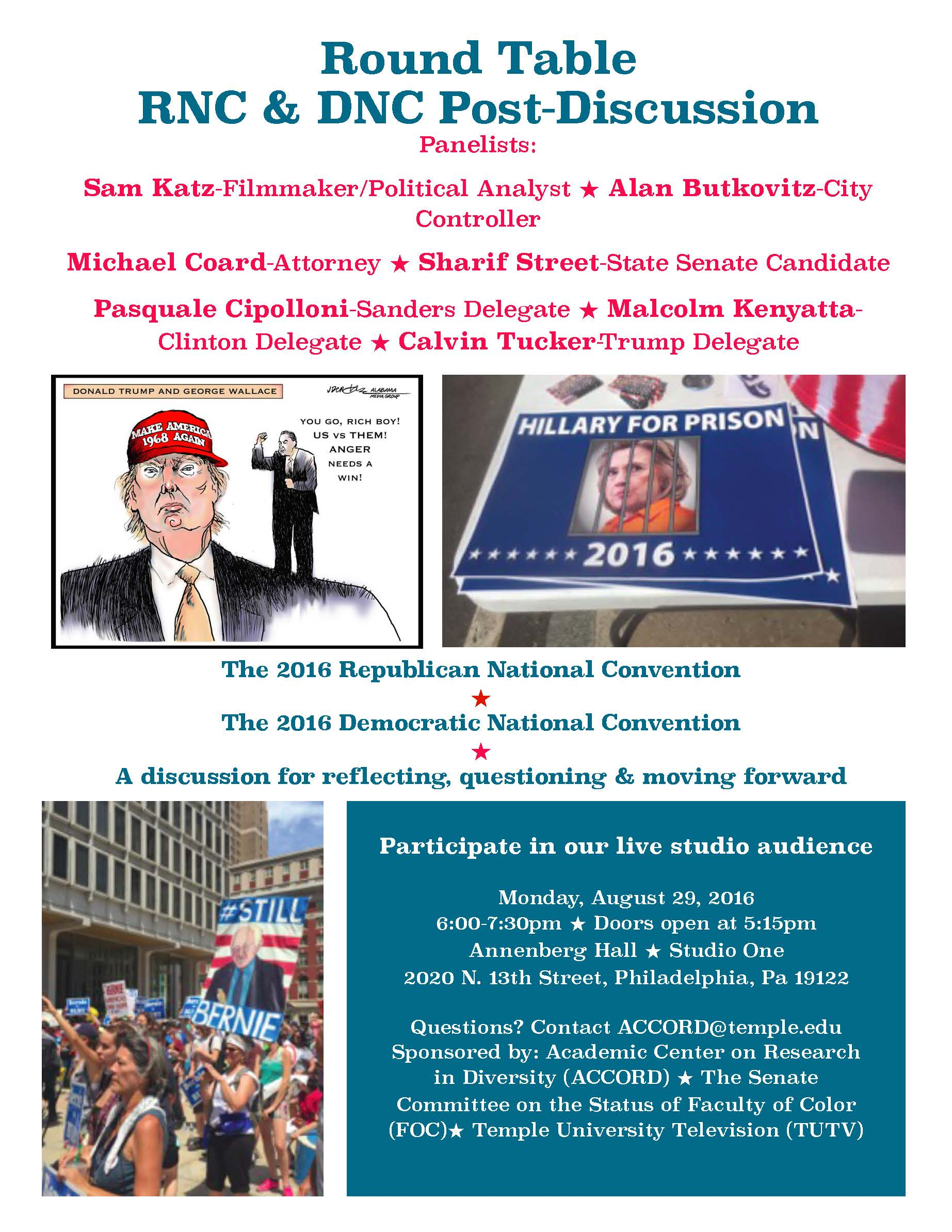 Round table discussion flyer - Round Table Rnc Dnc Post Discussion Flyer