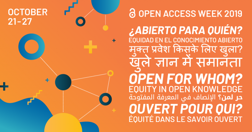 promotional banner for open access week