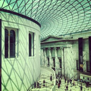 British Museum outside reading room