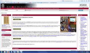 Internet Archive Screenshot