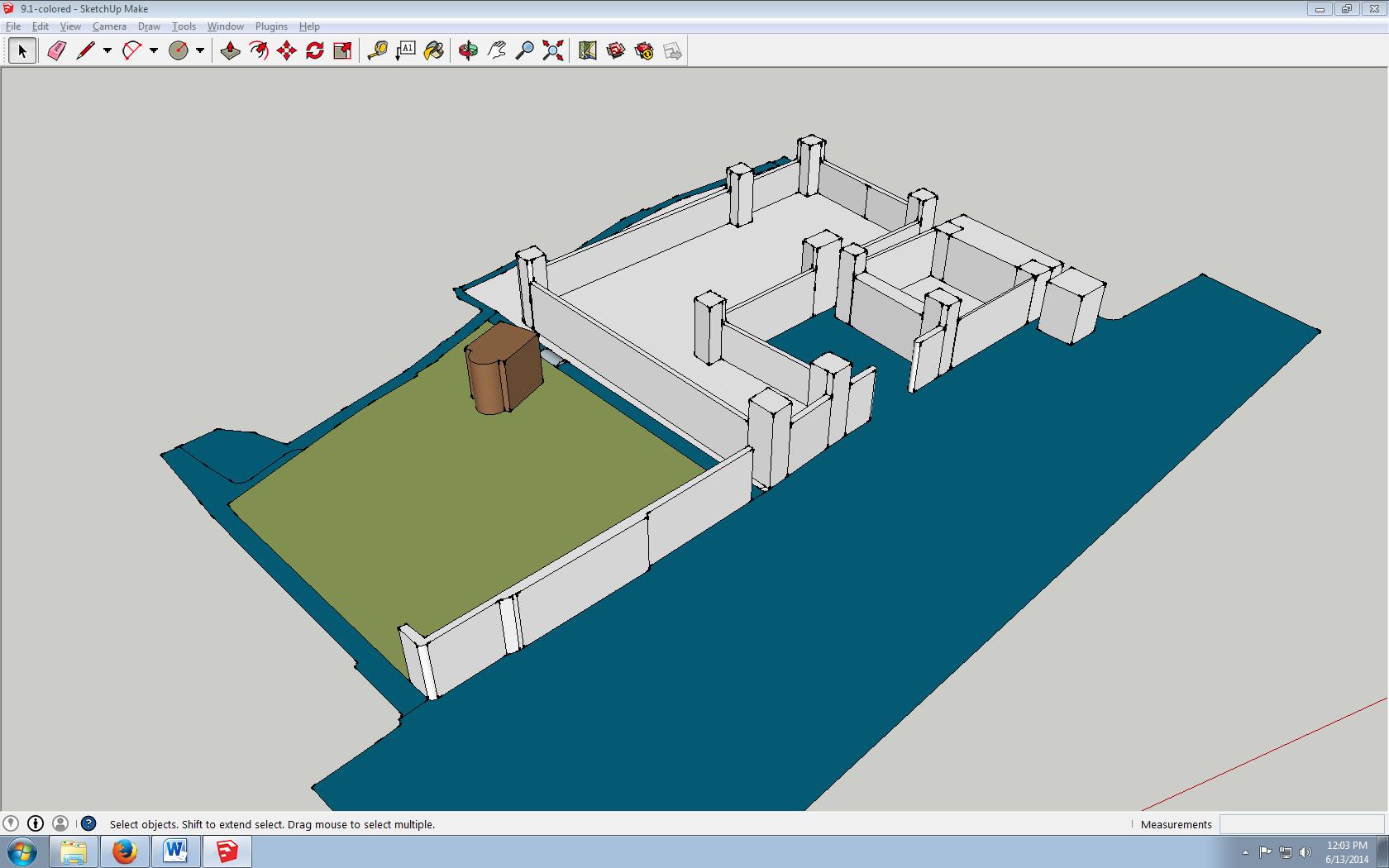 begins of a 3D reconstruction
