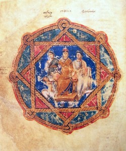 Anicia Juliana, Vienna Dioskorides, Cod. Vindobonensis Medicus Graecus 1, folio 6v, ca. 512 CE (Image: Wikimedia Commons)