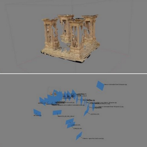 Photoscan model of Palmyra's Tetrapylon (Images: https://www.facebook.com/Palmyra3Dmodel/posts/1650111615270419 )