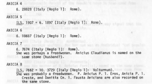 Anicii Prosopography From: Novak (1977): 145.