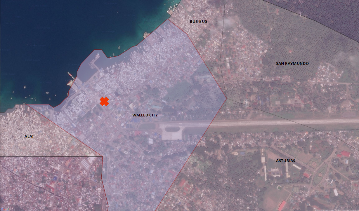 Walled City is a barangay within Jolo, Philippines.