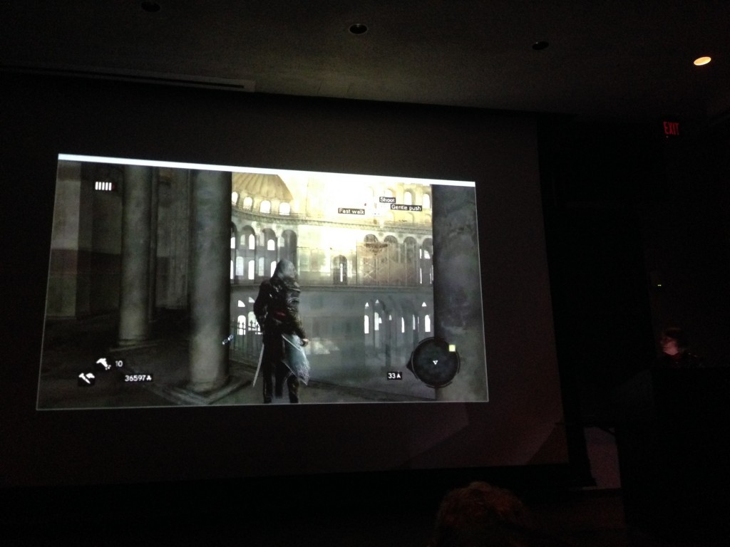 Annabel Wharton's avatar moving through Hagia Sophia in Assassin's Creed Revelations