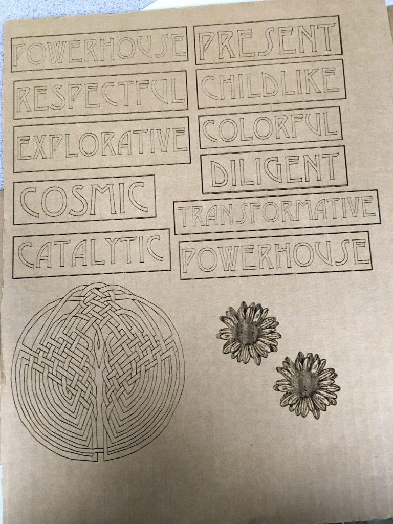 Laser Engraved Cardboard