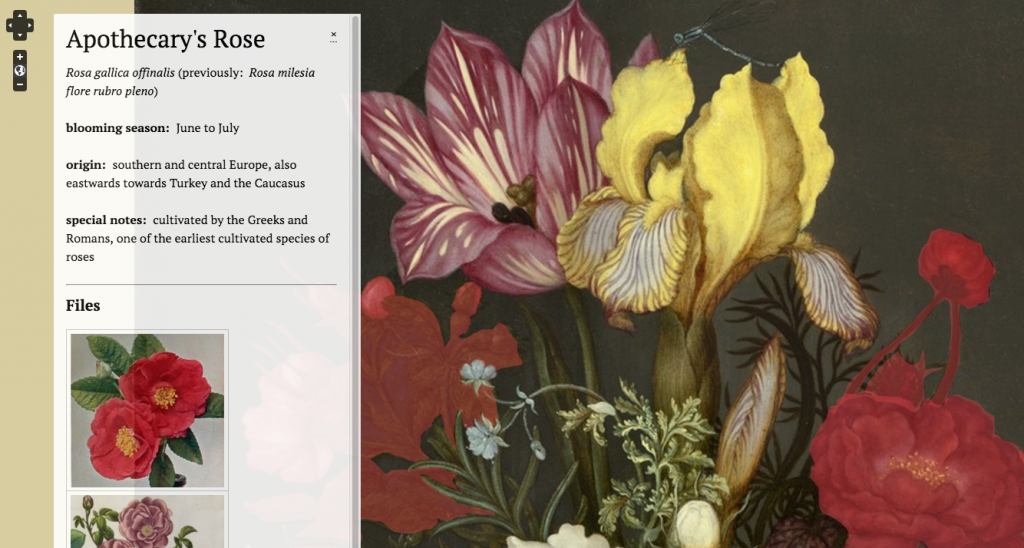 Screenshot of Hannah Shockmel's Omeka/Neatline Exhibit