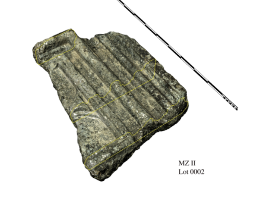 Digital 3D model of architectural fragment from Marzamemi II 'Church Wreck,' Image: Leopoldo Repola