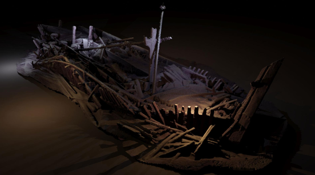 Photogrammetric 3D model of an Ottoman Ship, Image: Rodrigo Pacheco-Ruiz (EEF/Black Sea MAP)