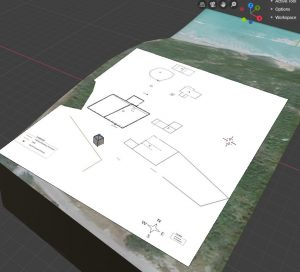 3D Map in Blender with 2D Overlay