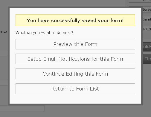 You have saved your form